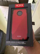 Tumi Coated Canvas Red Moto Z2 Force Edition New Sealed