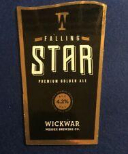 BEER ALE PUMP CLIP - WICKWAR  BREWERY FALLING STAR   - MAN CAVE (II33)