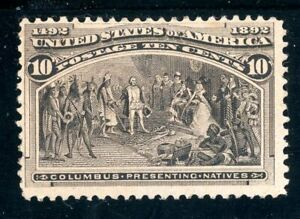 USAstamps Unused FVF US 1893 Columbian Expo Presenting Natives Scott 237 NG HR