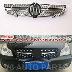 79S FRONT RADIATOR MASK GRILLE FOR 2005 - 2008 BENZ W219 CLS-CLASS DIAMOND STYLE
