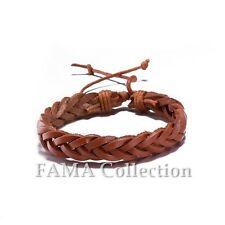 Quality FAMA Brown Braided Bracelet with Adjustable Drawstrings