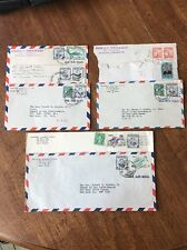 8 Philippines Islands Covers Envelopes Postmarked 1955 1956 1957 1958 Lot