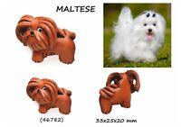 Llavero Piel Auténtica Hombre Mujer Colgante Cuero 3D Perros Maltese