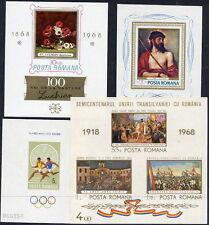 ROMANIA 1968 complete blocks MNH / **.  Michel Blocks 65-68