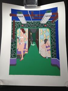"""BEAUTIFUL SEYMOUR CHWAST SERIGRAPH """"MASSAGE PARLOR"""" SIGNED IN PENCIL AP #19/50"""