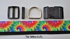 Tie Dye dog collar hardware kit  DIY dog collar kit complete