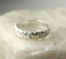 .925 Sterling Silver Floral Band Ring band Size 8 Bouquet Flower Spring Fashion