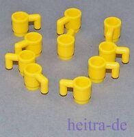 LEGO - 10 x Becher / Tasse gelb / Yellow Cup / 3899 NEUWARE