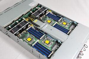SUPERMICRO 48 CORE 3.06Ghz XEON X5675/256GB 6026TT-BTRF LGA1366 2U NODE SERVER