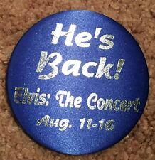 1998 Elvis Presley LVH Las Vegas Hilton He's Back Concert Pin August 11-16 1998