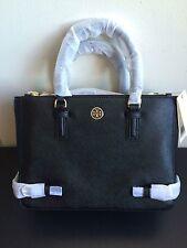NWT $495 Tory Burch Robinson Small Saffiano Leather Multi Tote Black