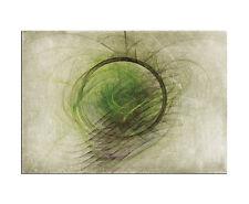 100x70cm Abstrakt Enigma Grün Kreis Wandbild Leinwand Keilrahmen Paul Sinus