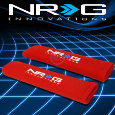 NRG Universal Performance Car Seat Belt Harness Shoulder Cover Pad Pair Red