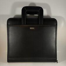 Dayrunner 3 Ring Black Faux Leather Full Zip Planner Binder Retractable Handles