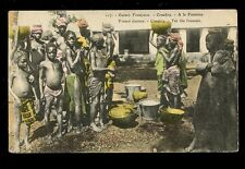 France Cols West Africa French Guinee CONAKRY At the Fountain 1908 PPC Xmas mail