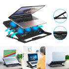 Gaming Laptop Slim Cooling Pad Stand Dual USB LED Fan Cooler 6 Fans for Notebook