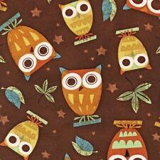 Robert Kaufman Amy Schimler On A Whim Owl Owls Earth Brown Fabric Yard