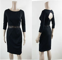 PAPER DOLLS Dress - Black Cut Out Pencil Occasion Dress with Lace Waistband