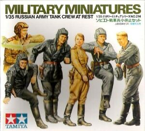 Tamiya Military 1/35 Scale Russian Army Tank Crew At Rest Model Kit 35214