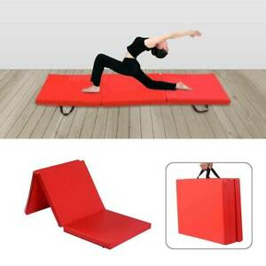 6FT Gymnastic Exercise Tri Folding Mat 50MM Thick Yoga Gym Fitness Crash Floor