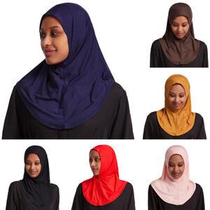 Muslim Hijab Women One Piece Amira Pull On Ready Made Instant Hijabs Scarf Islam