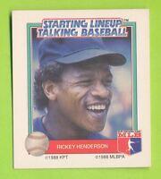 1988 Starting lineup Talking Baseball - Rickey Henderson  New York Yankees