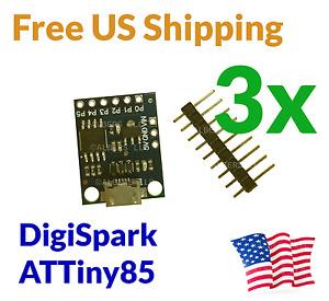 3Pcs Digispark ATtiny85 Micro USB Development Board Arduino Compatible MicroUSB
