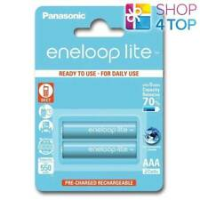 2 PANASONIC ENELOOP LITE RECHARGEABLE AAA HR3 BATTERIES BLISTER 1.2V 550mAh NEW