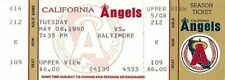 Baseball Ticket California Angels - 1990 - 5/8 Baltimore Orioles Full