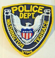WASHINGTON TERRACE UTAH~POLICE DEPT.~ FABRIC PATCH