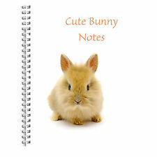 CHILDREN'S A5 NOTEBOOK STANDARD KIDS 50 BLANK PAGES NOTE PAD CUTE BUNNY NOTES