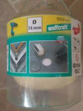 wolfcraft 5932000 1 Diamant-lochsäge Ceramic mit Schwamm 10 Mm Schaft Ø 74