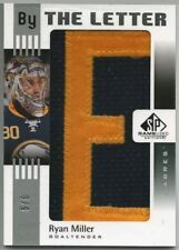 2011-12 UD SP GAME USED BY THE LETTER RYAN MILLER GAME-USED 'E' #5/6!! 1/1!!