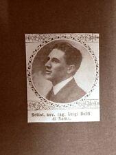 Caduto per la Patria Luigi Boffi di Roma Prima Guerra Mondiale WW1