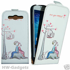 Stylish Leather Thin Flip Fashion Case Cover for Samsung Galaxy S3 I9300 - HAPPY