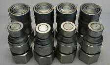 """4 sets 1/2"""" Bobcat Skid-Steer Flat Face Quick Disconnect Coupler FEM-501 FEM-502"""