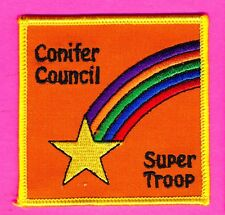 Girl Scout badge - Conifer Council - Super Troop - about 3 inch square (115)