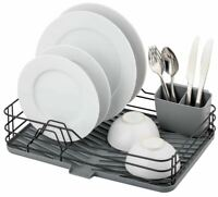 Kitchen Dish Drying Rack Tray Worktop Organiser Utensil Holder Sink Drainer Dry