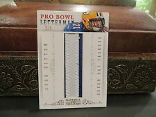 "National Treasures Pro Bowl Letterman ""I"" Jersey Packers Josh Sitton 2/6  2013"