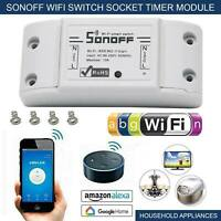 SONOFF Basic Smart Wifi Wireless Switch Timer Remote Voice APP Alexa Google UK