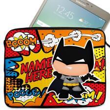 "Personalised Tablet Cover BATMAN Neoprene Sleeve HERO Case Gift 7"" - 10"" KS108"