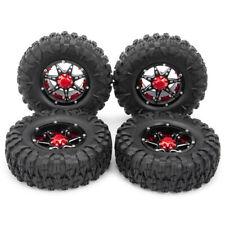 "4Pcs 2.2"" Metal Beadlock Wheel Rims& Rubber Tires For Wraith D90 1/10 RC Crawler"