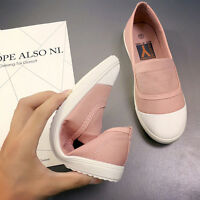 Women Fashion Canvas Round Toe Soft Loafers Casual Flats Shoes Slip On Sneakers
