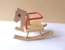 Caco Schaukelpferd Holz Puppenmöbel Puppenstube Puppe Miniatur 1:12
