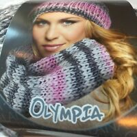 Lana Grossa Olympia Tweed Yarn Hat Scarf Wool Superbulky Knit Crochet