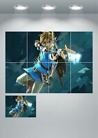 Legend Of Zelda Wall Art Poster Print - A3/A4 Sections or Giant 1Piece