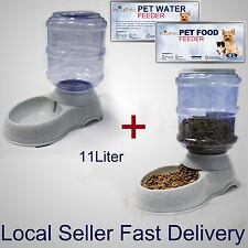 Large Automatic Dog Cat Food & Water Feeder Set Bowl Dispenser Plastic 11 Liters