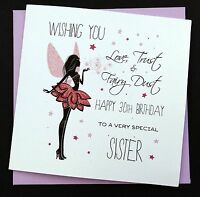 Handmade Birthday Card Daughter Sister Niece Auntie Friend 16th 18th 21st 30th