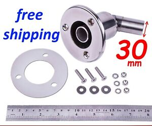Stainless steel exhaust thru hull skin fitting 30 f/ Webasto Planar Eberspacher