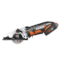 Worx Cordless Compact Circular Saw 20-Volt Battery Charger Set 3-3/8 in Blade